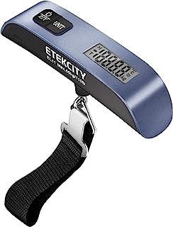 مقیاس چمدان Etekcity ، وزن چمدان قابل حمل دیجیتال برای سفر با رنگ لاستیکی ، سنسور دما ، 110 پوند ، باتری همراه