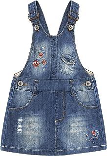 لباس مجلسی KIDSCOOL SPACE Baby Girls Little Fox Flowers لباس توری جین دوزی شده