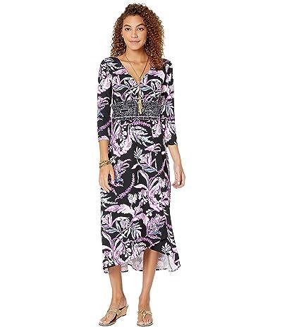 Lilly Pulitzer Fleuris Midi Dress (Onyx Wild Within Engineered Knit Midi Dress) Women
