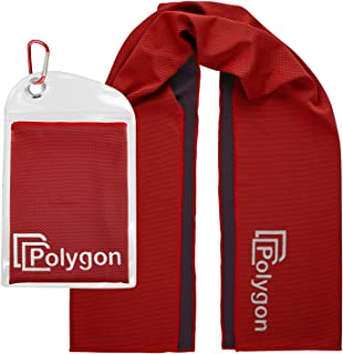Polygon Cooling Towel, Microfiber Ice Sports Towel, Instant Chilling Neck Wrap for Sports, Workout, Running, Hiking, Fitness, Gym, Yoga, Pilates, Travel, Camping, 40