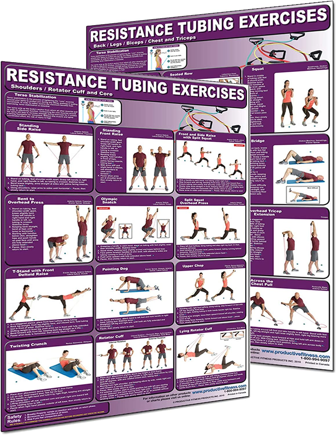 Productive Fitness CRT-Set Special Campaign Resistance Tubing - Set Lamina Poster Max 51% OFF