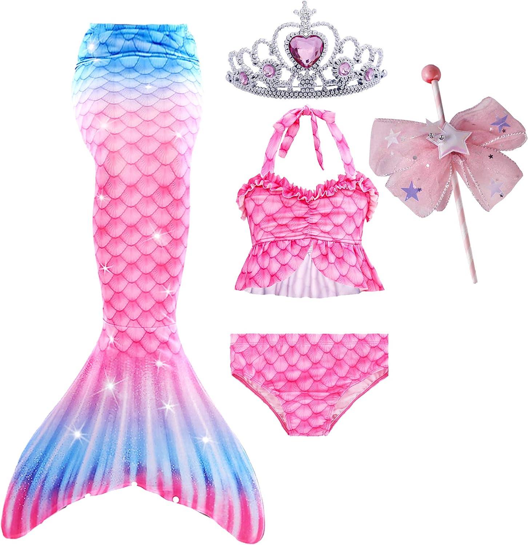 Mermaid Tails for Swimming Swimsuit Costume Suit Bathing Bikini Max 88% OFF Popular standard