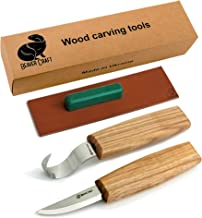 BeaverCraft S01 Wood Spoon Carving Knives Set Spoon Making Tools Kit Whittling Knife Hook..