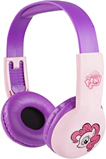My Little Pony Kids Safe Over The Ear Headphones HP2-03057| Kids Headphones, Volume Limiter for Developing Ears, 3.5MM Stereo Jack, Recommended for Ages 3-9, by Sakar