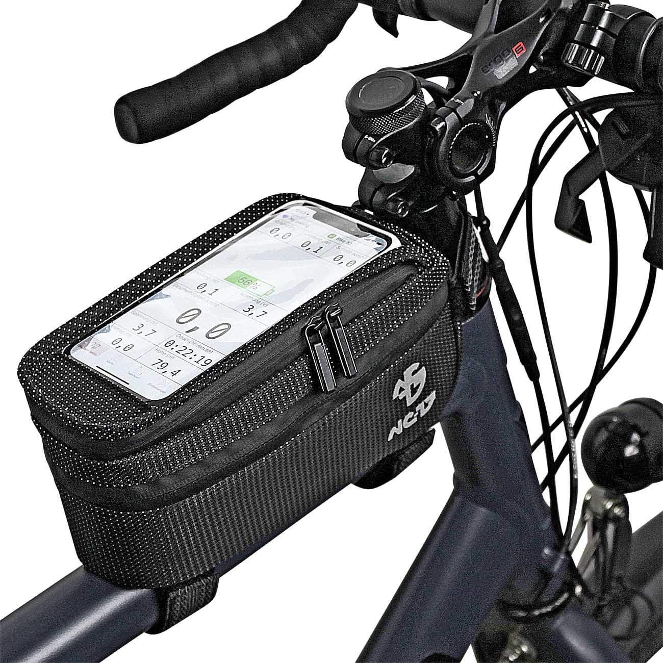 Compartiment de Rangement et Passe-c/âbles pour Smartphones de Toutes Tailles XL NC-17 Connect Universal XL Sacoche pour Tube sup/érieur Dot//v/élo//Smartphone avec Fermeture Velcro