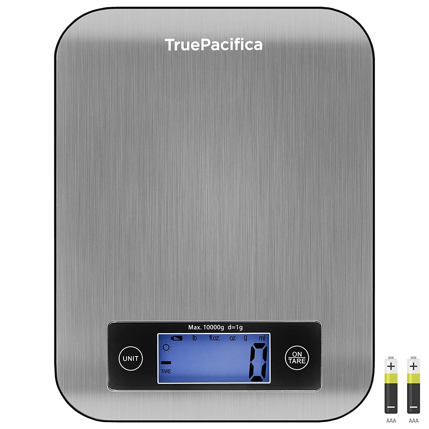 Large Food Scale with Weight in Grams and Ounces - 22lb Kitchen Digital Scale for Baking, Cooking, Weight Loss and More- Make Perfect Recipes by Measuring and Weighing with This Electronic Scale