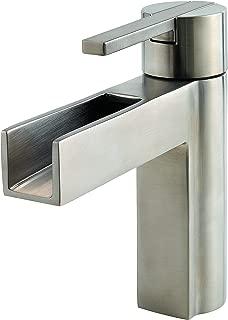 Pfister LF042VGKK Vega Single Control 4 Inch Centerset Bathroom Faucet in Brushed Nickel, Water-Efficient Model