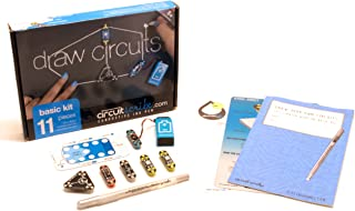 Circuit Scribe Basic Kit Plus: Draw Circuits Instantly – Includes STEM Workbook, Conductive Silver Ink Pen to Learn, Explore, and Create Your Own Circuits and Switches!