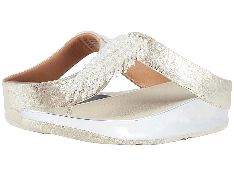 FitFlop Rumba Toe Thong Sandals (Metallic Silver) Women