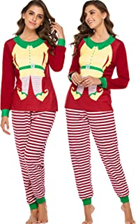 Womens Christmas Pajamas 2 Piece Pajama Set Long Sleeve & Pants Funny Pj Loungewear Set S-XXL