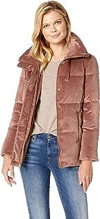 womens velvet puffer coat