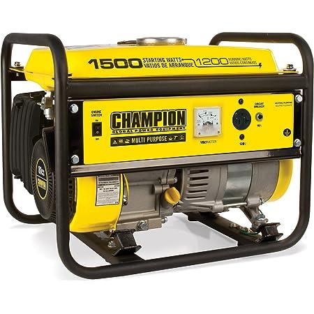Champion Power Equipment 42436 1500/1200-Watt Portable Generator, Yellow/Black