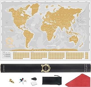 Best gold scratch map Reviews