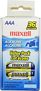 Maxell 723815 AAA Performance Long Lasting Alkaline Batteries - 36 Pack