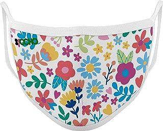 Mascarilla higiénica y reutilizable, incluye 10 filtros de un solo uso.CERTIFICADA.Linea Flowers