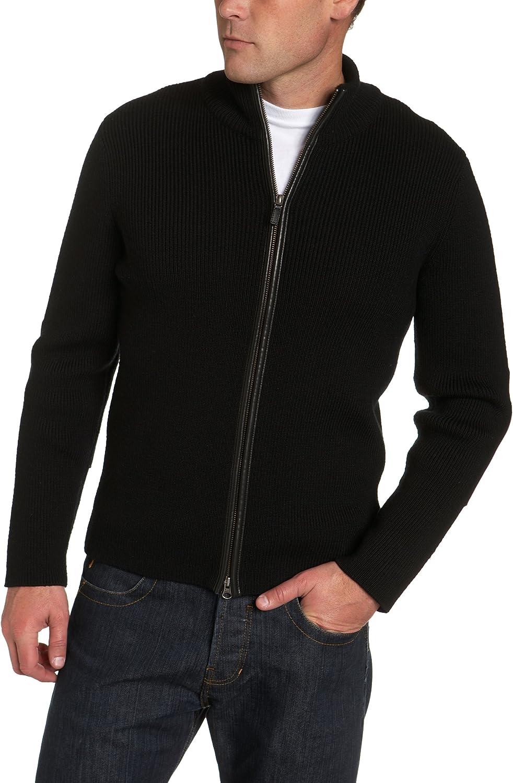 Cole Haan Men's Merino Knit Zip Front Sweater