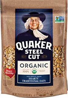 Sponsored Ad - Quaker Steel Cut Oats, USDA Organic, Non GMO Project Verified, 20oz Resealable Bags (Pack of 4)