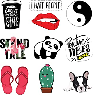 Stickers for Water Bottles, VSCO, Phone Cases, Laptop, Cute Funny Trendy Aesthetic Waterproof Travel Vinyl Stickers for Teens and Adults 36 Pack (Set 3)