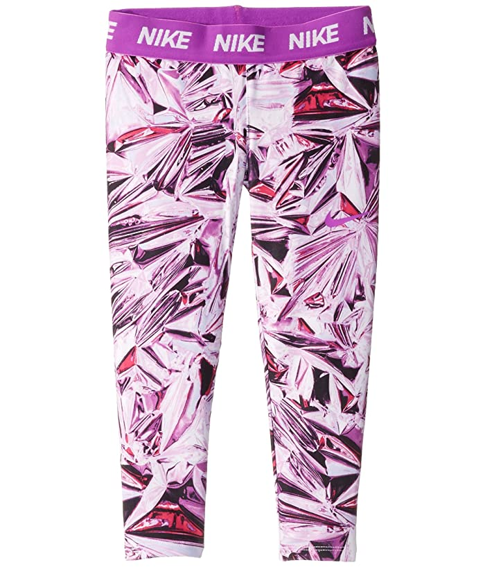 Nike Kids  Dri-FITtm Printed Leggings (Toddler/Little Kids) (Vivid Purple) Girls Casual Pants
