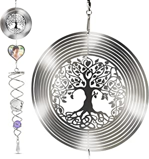 Saikirra Hanging Garden Decorations- Wind Spinner I Memorial Wind Chime Outdoor I Crystal 3D Wind Spinners I Memorial Outd...