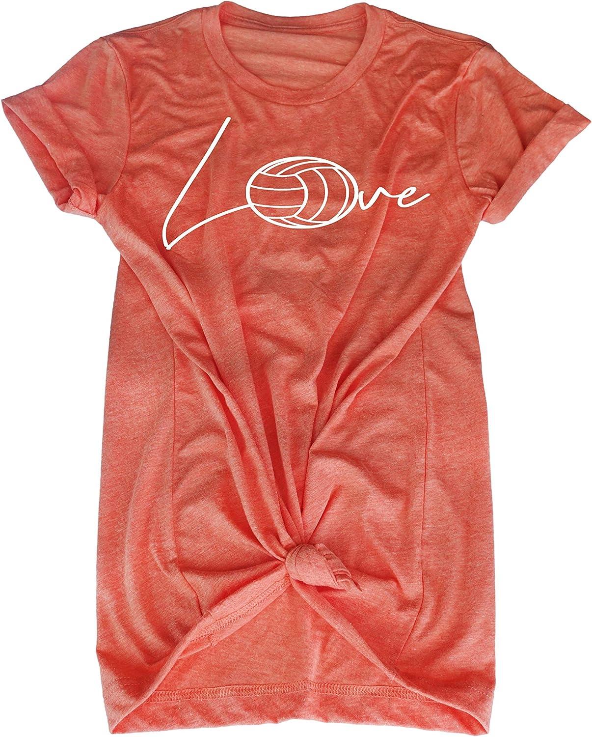 Volleyball Tee Shirt - Love Volleyball Ball - Volleyball Player Teen Girls t-Shirt Gift