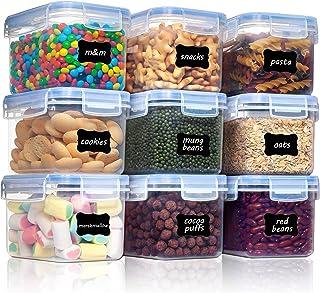 Vtopmart 0.8L boîtes de Conservation Alimentaire sans BPA de Nourriture en Plastique avec Couvercle,Ensemble De 9+24 Étiqu...