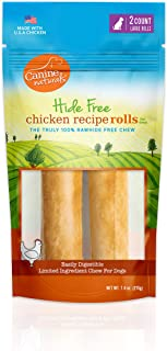 Canine Naturals Chicken Recipe Chew | 100% Rawhide Free and Collagen Free Dog Treats | Made from USA Raised Chicken | All-Natural and Easily Digestible