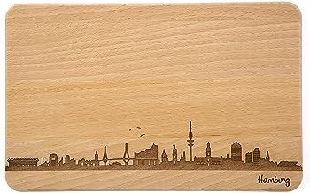 SNEG Brotzeitbrett Hamburg Skyline | Frühstücksbrettchen a