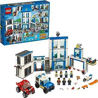 Lego 60246 City Polisstation Byggsats med 2 Fordon, Ljus- och Ljudklossar, Drönare och Motorcykel, 743 Delar