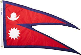 Annin Flagmakers Model 195916 Nepal Flag Nylon SolarGuard NYL-Glo, 2x3 ft, 100% Made in USA to Official United Nations Design Specifications