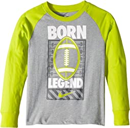 Sports Verbiage Raglan Tee (Little Kids)