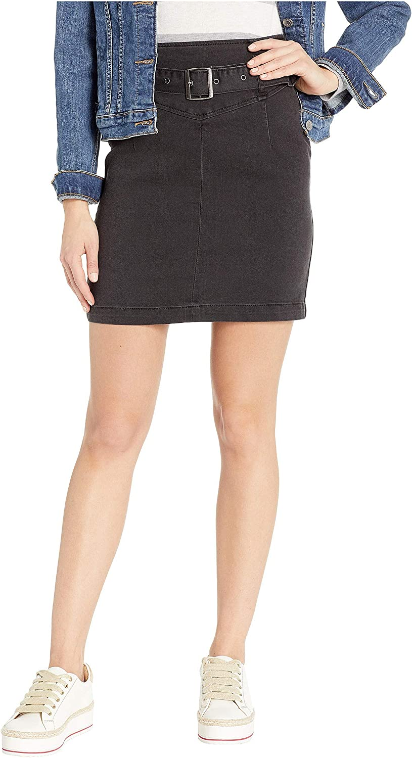 Free People Womens Black Belted Pencil Skirt Size 12