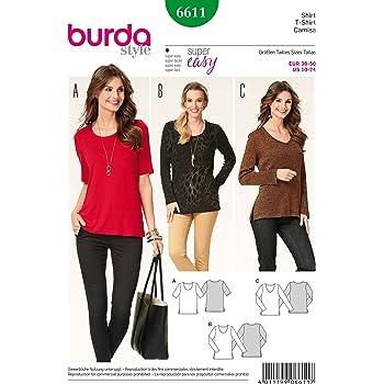 Burda B6602 Schnittmuster T Shirt Papier weiß 19 x 13 x 1 cm