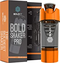 Boldfit Gym Shaker Pro Cyclone Shaker 500ml with Extra Compartment, 100% Leakproof Guarantee, Ideal for Protein, Preworkout and BCAAs, BPA Free Material …