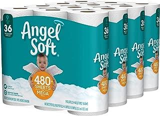 Angel Soft Toilet Paper, Bath Tissue, 36 Mega Rolls (4 Packs of 9 Rolls, Packaging May Vary)