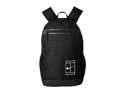 Nike Court Tennis Backpack (Black/Black/White) Backpack Bags