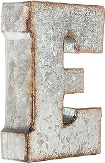 Galvanized Metal 3D Letter E