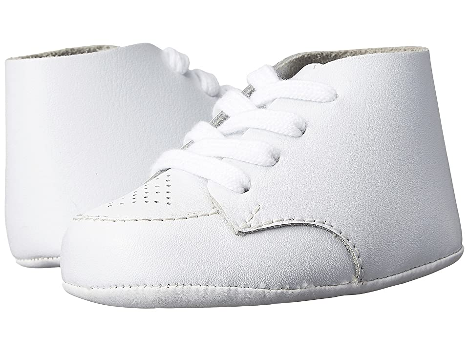 FootMates Crib (Infant) (White Leather) Boys Shoes