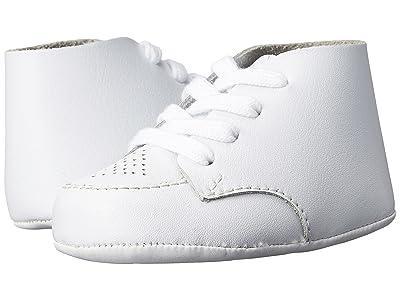 FootMates Crib (Infant) (White Leather) Boys Shoes