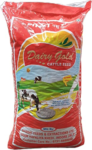Platina-DairyGold Bharat Feeds & Extractions Ltd Cow Feed/Buffalo Feed/Cattle Feed Pellet (18 kg)