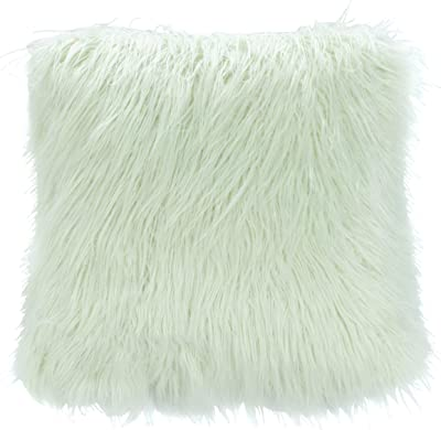 Safavieh Caelie 20-inch Mint Green Faux Fur Decorative Throw Pillow