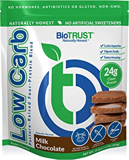 BioTrust Low Carb Natural and Delicious Protein Powder Whey and Casein Blend from Grass-Fed Hormone Free Cows, Non GMO, So...