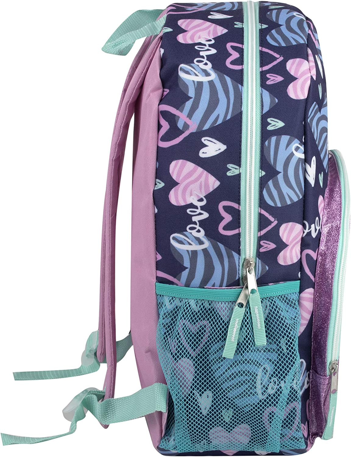 Rocketships Backpack with Pencil Case for Kids 17 Inch School Backpack Set for Girls and Boys