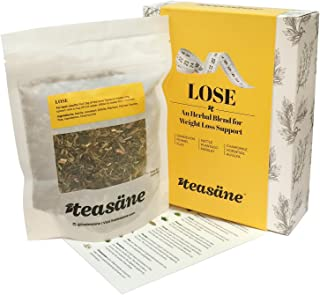 TEASÄNELoose Leaf Herbal Tea, Lose (63 gm Box); Natural Pure Plant Extracts for Diets and Weight-Loss, Caffeine-Free
