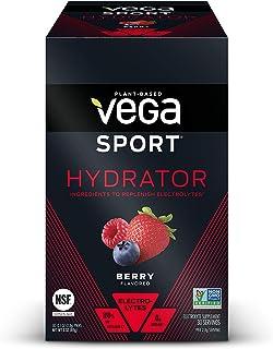 Vega Sport Hydrator Electrolyte Powder Packets, Berry - Hydration Supplement, No Artificial Flavors, Sugar Free, Vegan, Ke...