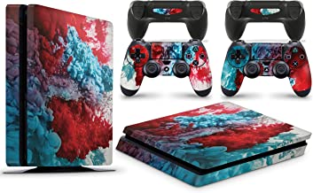 GNG PS4 Slim Console Colour Explosion Skin Decal Vinal Sticker + 2 Controller Skins Set