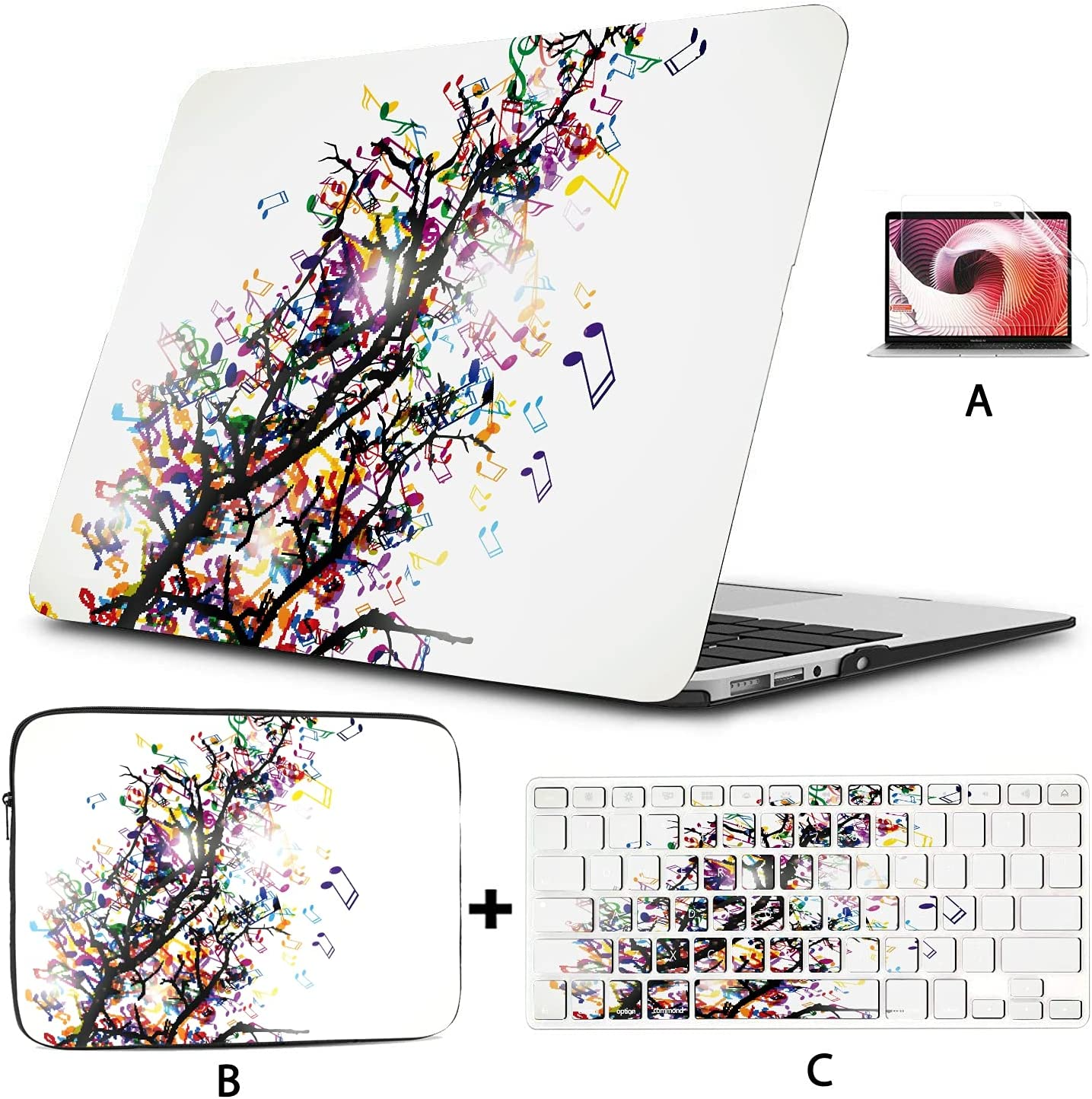 Hard Shell with Sleeve Bag Branc Abstract Case A surprise price is realized Laptop Oklahoma City Mall for