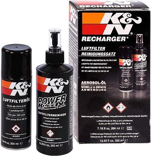 K&N Voitures et moto nettoyant 355ML + Aérosol huile 204ML pour filtre à air 99-5003EU