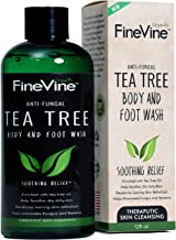 Antifungal Tea Tree Oil Body Wash - Made in USA - Helps Treat Eczema, Ringworm, Body Odor, Jock Itch, Acne, Toenail Fungus & Athlete - Best Antibacterial Soap For Skin Irritations.