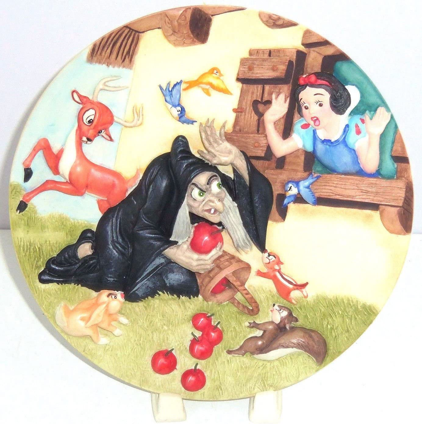 Free Opening large release sale Shipping Cheap Bargain Gift Disney Store Snow White Collector Plate Seve Apples Wicked Queen